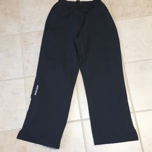Bauer warm up pant zip ankle men's size small